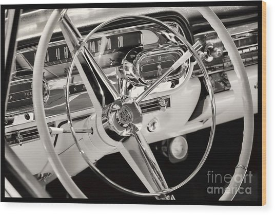 Cadillac Control Panel Wood Print by Miso Jovicic