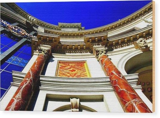Caesars Palace Architecture Wood Print