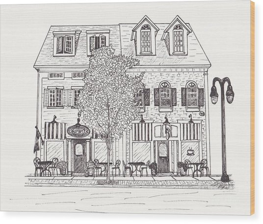 Cafe Mantic Wood Print