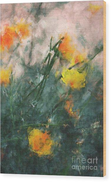 California Poppies Wood Print by Julie Lueders