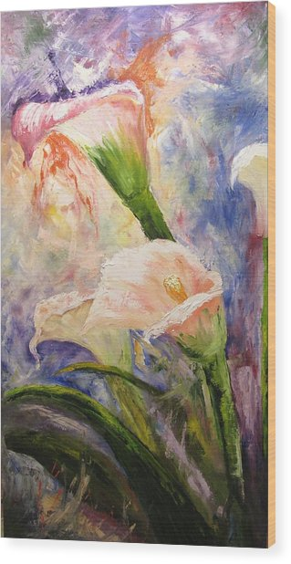 Calla Lillies Abstract Wood Print