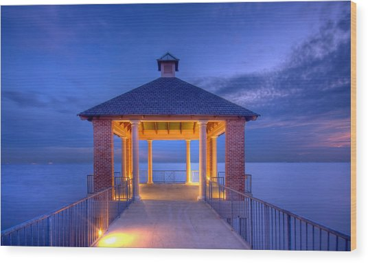 Calm Evening Wood Print by Pixel Perfect by Michael Moore