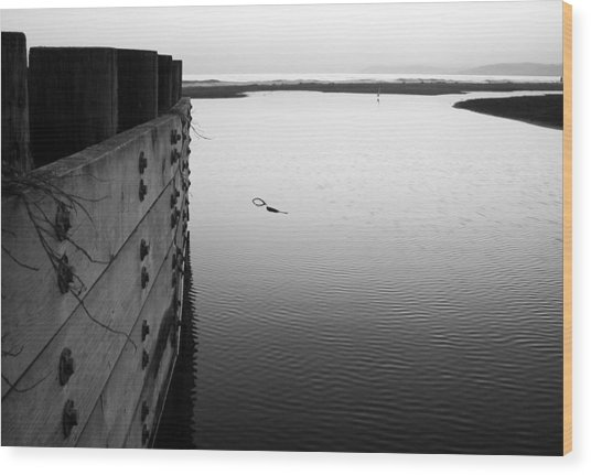 Wood Print featuring the photograph Calm Water In Cambria by Matt Hanson