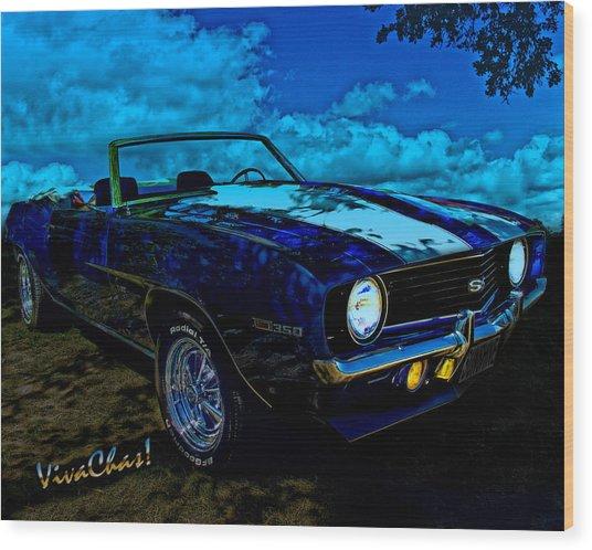 Camaro In Moonglow Wood Print