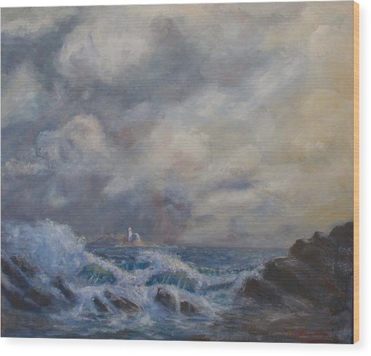 Camden Light Storm Wood Print