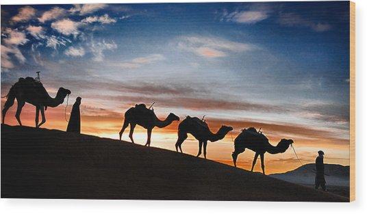 Camels - 2 Wood Print