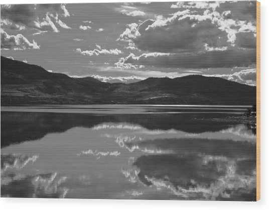 Canadian Lake 1455 Wood Print by Larry Roberson