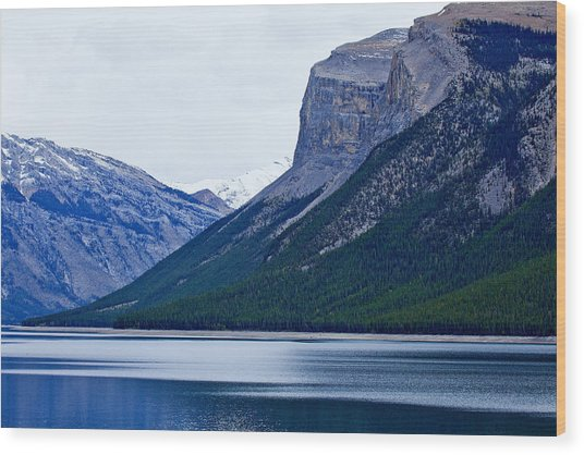 Canadian Lake 1726 Wood Print by Larry Roberson