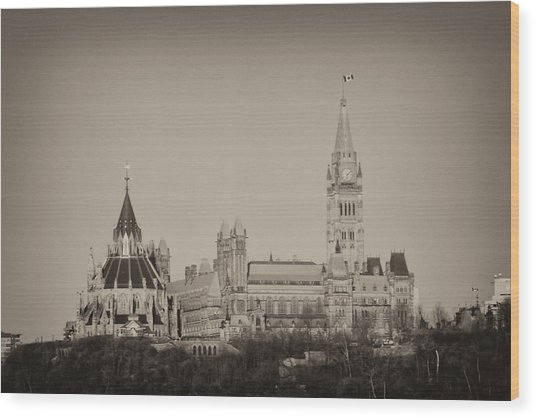 Canadiana Wood Print