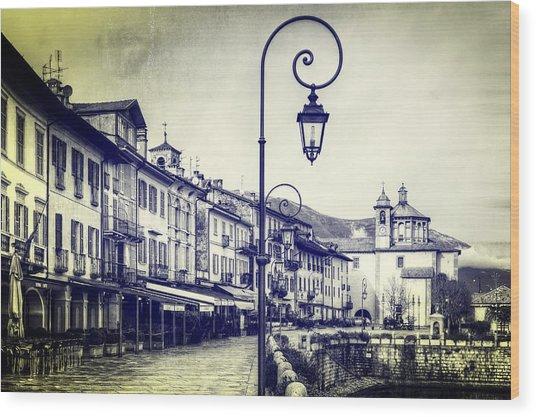 Cannobio Wood Print