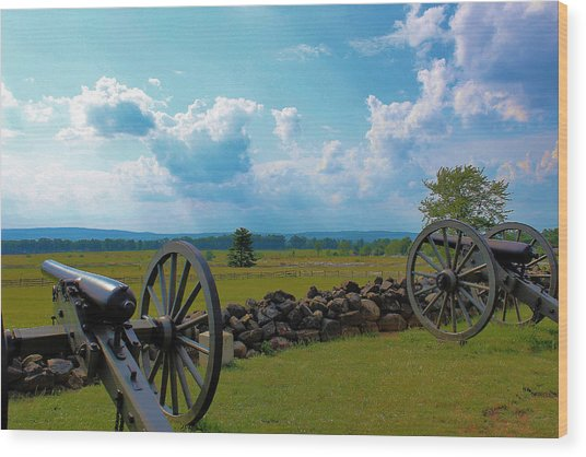 Cannons Wood Print by Justin Mac Intyre