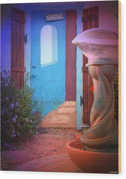 Cantina Entrance Wood Print by Daniel Madrid