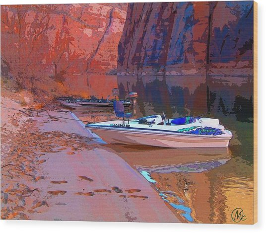 Canyon Boating Wood Print