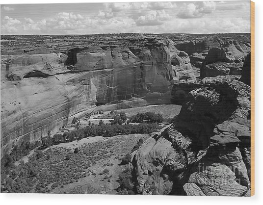 Canyon De Chelly White House Wood Print by Barry Shaffer