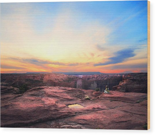Canyon Sunset Wood Print by Ric Soulen