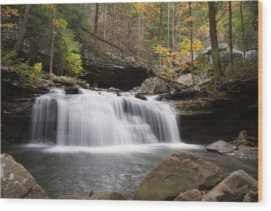 Canyon Waterfall Wood Print