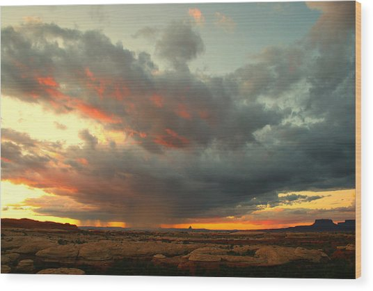 Canyonlands Sunset Wood Print by William Joseph