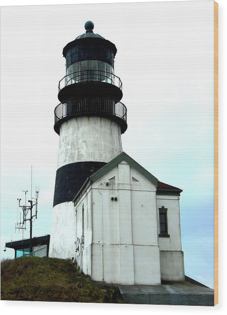 Cape Disappointment Lighthouse Wood Print