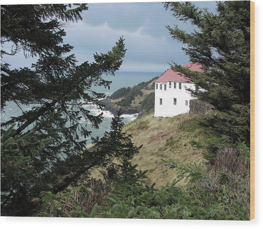 Cape Foulweather Clouds Wood Print
