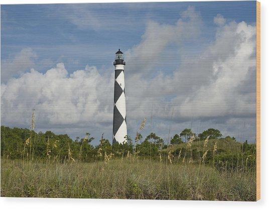 Cape Lookout Light Wood Print
