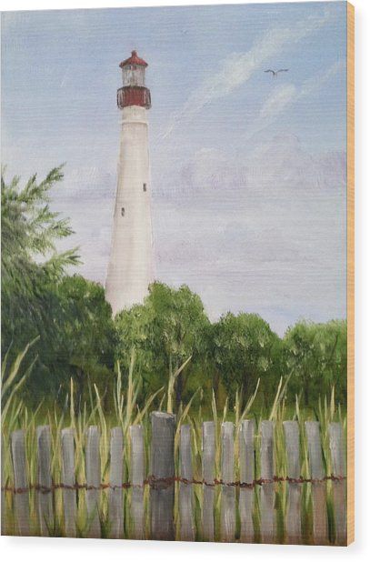 Cape May Lighthouse Wood Print
