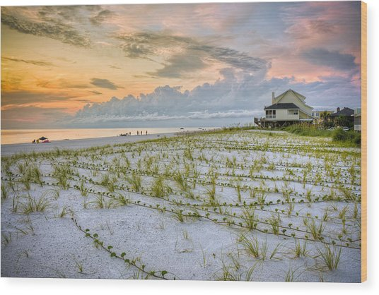 Cape San Blas Sunset Wood Print