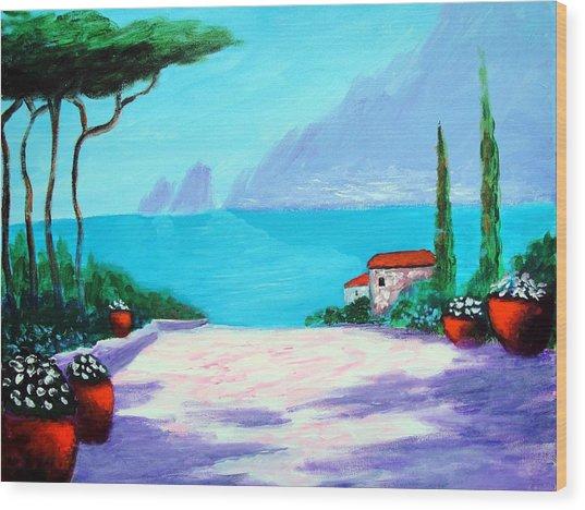 Capri Light And Color Wood Print