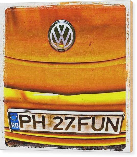 #car #volkswagen #volkswagenbeetle Wood Print