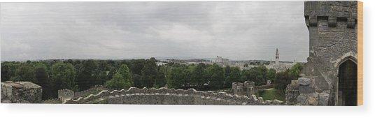 Cardiff Castle Panorama Wood Print