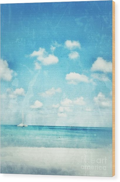 Caribbean Beach Wood Print