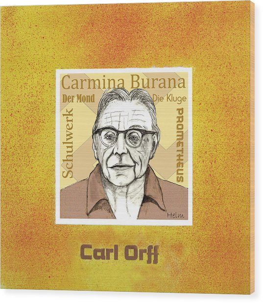 Carl Orff Wood Print by Paul Helm