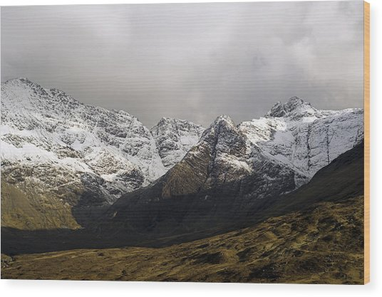 Carn Coire Na Creiche Mountains Wood Print by Duncan Shaw