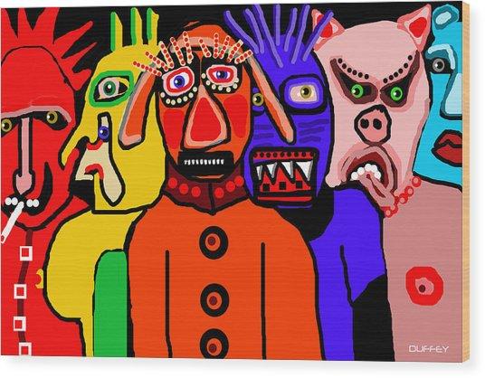 Carnavale 5a Wood Print