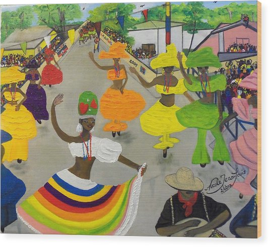 Carnival In Port-au-prince Haiti Wood Print