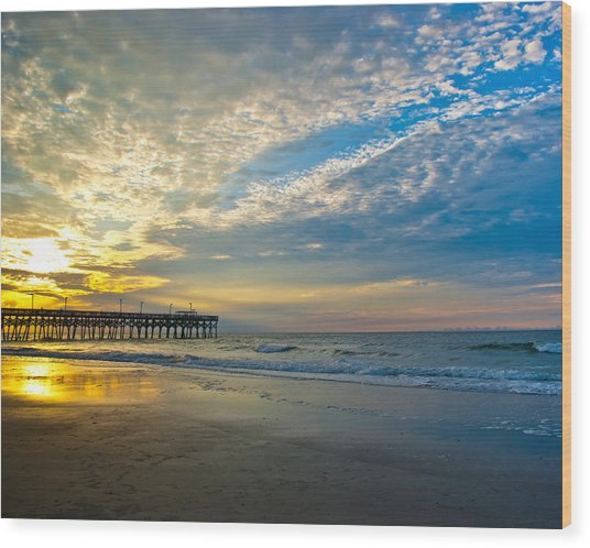 Carolina Sunrise Wood Print