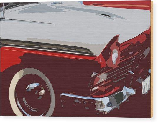 carToon Wood Print by Elizabeth Alamillo