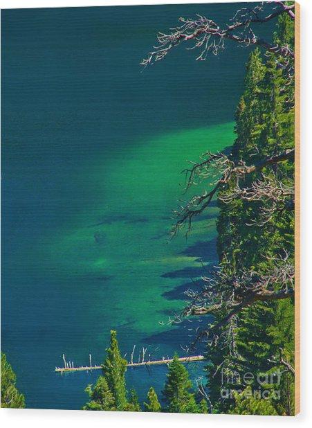 Cascade Lake Inlet Delta Wood Print