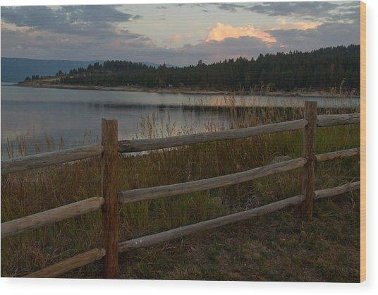 Cascade Lake Sunrise Wood Print by Larry Fry