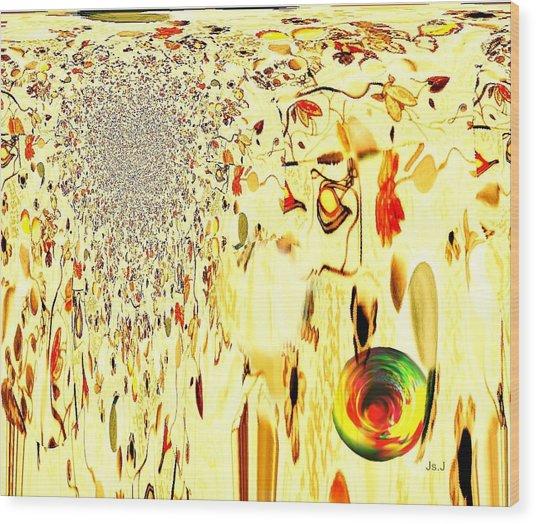 Cascading Glace Wood Print by Jan Steadman-Jackson