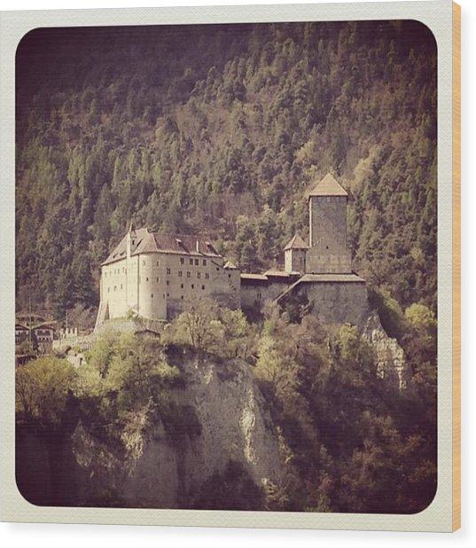 Castel Tirolo Wood Print by Luisa Azzolini