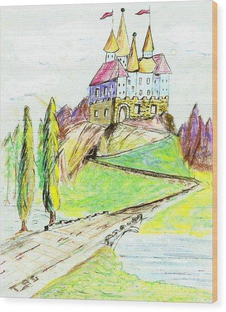 Castile Castle Wood Print