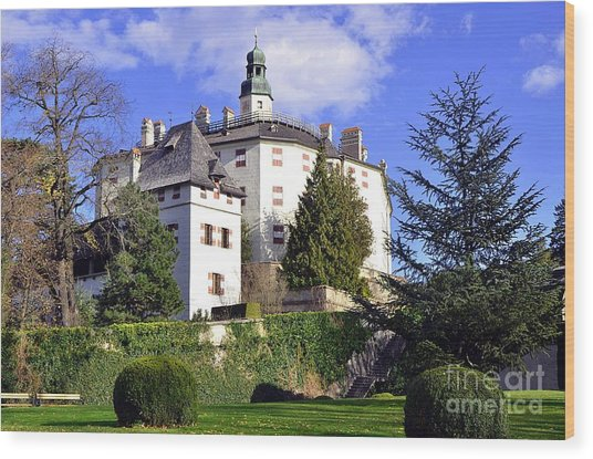 Castle Ambras In Innsbruck Wood Print