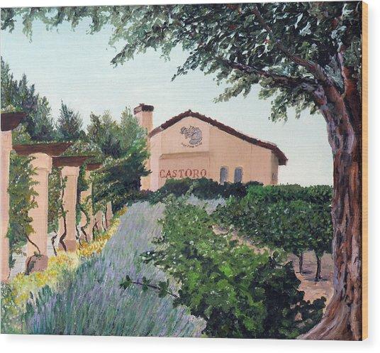 Castoro Winery Wood Print by Barbara Willey