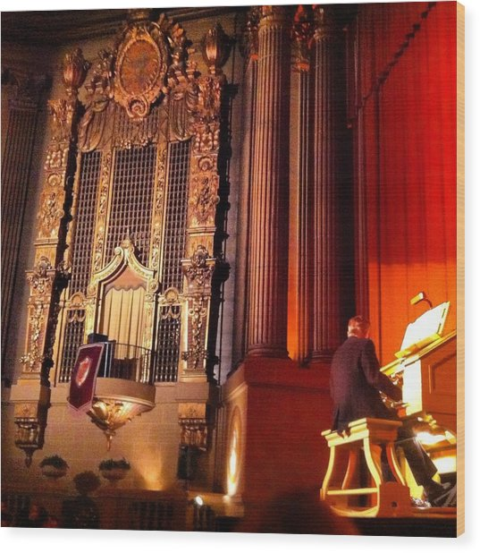 Castro Theater Wood Print by Ken SF