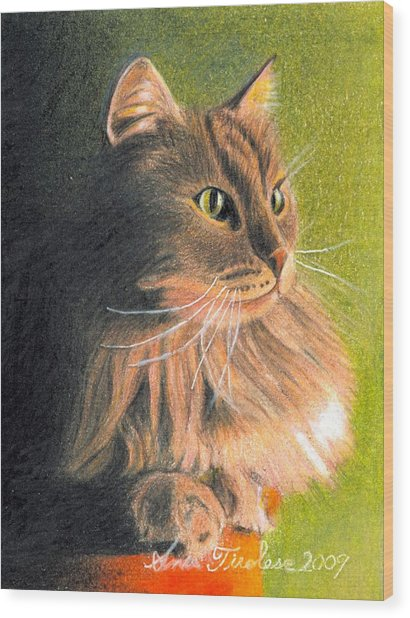 Cat Miniature Wood Print