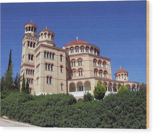 Cathedral Of Saint Nectarios At Aegina Wood Print