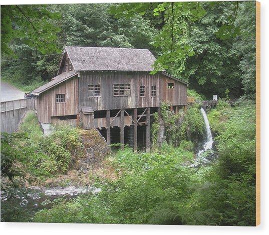Cedar Creek Grist Mill Wood Print by Fred Russell