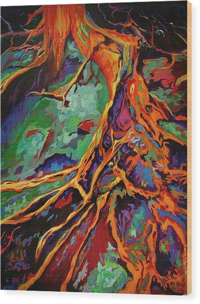Cedar Roots Wood Print