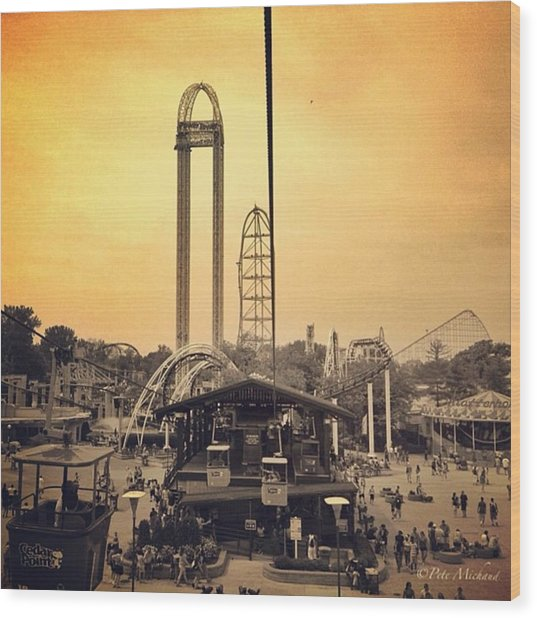 #cedarpoint #ohio #ohiogram #amazing Wood Print by Pete Michaud