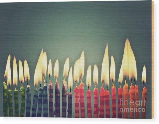 Celebrate Wood Print by Catherine MacBride